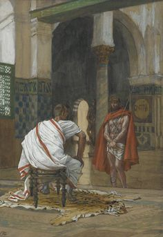 Jesus Before Pilate ~ Second Interview by James Tissot {c.1886-94}