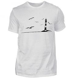 Hochwertiges Herren Premiumshirt - Leuchtturm Möwen Meer Nordsee: Amazon.de: Bekleidung