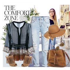 TCZ by style-stories on Polyvore featuring Alberta Ferretti, H&M, GUESS by Marciano, Ray-Ban and Pier 1 Imports