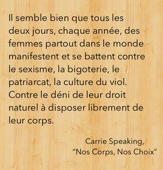 """Citation de """"Nos Corps, Nos Choix""""."""