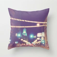 pillow cover, purple plum throw pillow, Los Angeles pillow case, LA home decor, gold bokeh, modern downtown  loft decor, 20x20 by MyanSoffia on Etsy https://www.etsy.com/listing/124530481/pillow-cover-purple-plum-throw-pillow