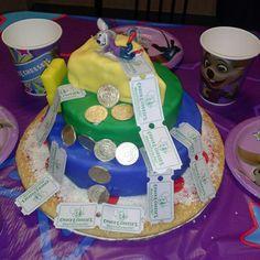 How to Make a Rainbow Chuck E Cheese Cake Cake Pinterest