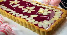 Mazurek podwójnie różany z białą czekoladą