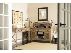 32423 Riverside Furniture Coventry Home Office Credenza Desk Office Desk Set, Office Suite, Home Office Desks, Home Office Furniture, Closet Office, Funky Furniture, Office Spaces, Classic Furniture, Office Interior Design