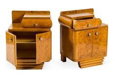 Art Deco Night Stands, Pair