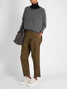 Mid-rise wide-leg cotton trousers   Y's By Yohji Yamamoto