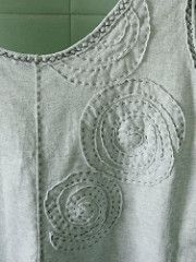 Alabama Chanin fitted top (wearable muslin #1) circle spiral applique | by M lambie