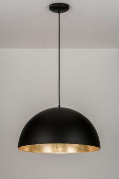 Závěsné industriální svítidlo Greve Strand Industry Black and Gold