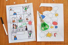 Jugar y crear: plantillas para hacer cómics DIY - DecoPeques