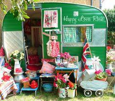 green vintage camper  | lovely green vintage trailer | Vintage Cars, trucks, buses, etc ....