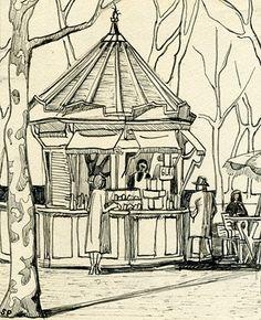 Sylvia Plath   A sketch of the Tuileries in Paris