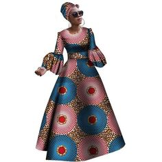 Dashiki Print Maxi African dresses for women African Dashiki, African Fashion Ankara, African Print Fashion, African Dresses For Women, African Print Dresses, African Prints, Short Dresses, Dresses For Work, Long Gowns