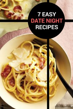 Want to enjoy a romantic dinner without needing to hire a sitter? Have a great meal at home with these easy, delicious date night recipes. Quick Pasta Recipes, Yummy Chicken Recipes, Yum Yum Chicken, Quick Easy Meals, Soup Recipes, Dinner Date Recipes, Date Night Recipes, Date Dinner, Quick Date