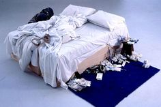 Tracey Emin's bed. Sold for 2.54 m. at Christie's..... Just did a paper on her, quite interesting artist.