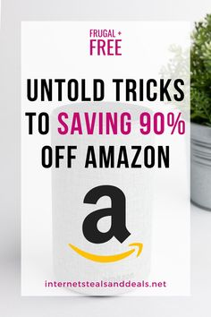 The Secret to Saving 90% OFF Amazon Products | The Freebie Lady | Never pay full price for Amazon products again with these tips on how to save 90% off Amazon Product! Get free stuff from Amazon, Free Amazon Products, and save money! Ways To Save Money, Make More Money, Money Tips, Money Saving Tips, Extra Money, Get Free Stuff, Bargain Shopping, Managing Your Money, Amazon Products