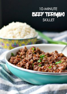 You only need 5 ingredients, one skillet and about 10 minutes to pull together an easy Beef Teriyaki dinner that will rock your over-scheduled-world!