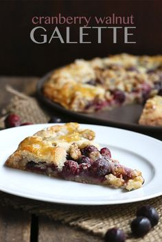 Low Carb Grain-Free Cranberry Walnut Galette | All Day I Dream About Food