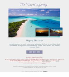 """""""The Travel Agency"""" - Exclusive Canvas template for email marketing - editable - No html skill required - No Photoshop needed Email Marketing Design, No Photoshop, Newsletter Templates, Travel Agency, Lorem Ipsum, Design Inspiration, Canvas, Grief, Tela"""