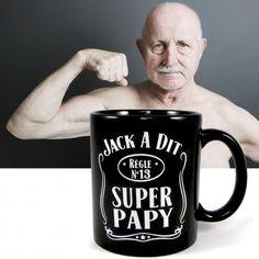 Mug super Papy ,#papy #cadeau #grand-père