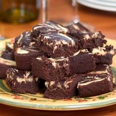 Healthy Fruit Bar Recipes & Healthy Brownie Recipes  Swirled Cheesecake Brownies  Made with whole-wheat flour, these decadent-tasting brownies have a beautiful marbled cheesecake topping. Cutting them into bite-size pieces helps to keep the calorie count in check.