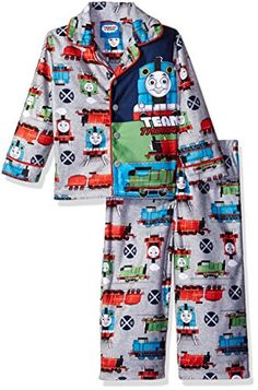 Thomas The Train Toddler Boys' 2-Piece Pajama Coat Set with Tank Engine -- Want additional info? Click on the image(It is Amazon affiliate link). #ny
