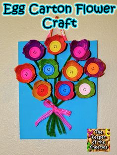 The Keeper of the Cheerios: Egg Carton Flower Craft