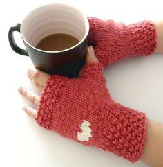 Heart Fingerless Gloves | AllFreeKnitting.com