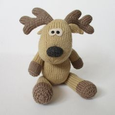 Rupert reindeer is a cuddly knitted toy with a big a grey nose, but you could knit the nose in red to make a Rudolph reindeer.THE PATTERN INCLUDES: Row numbers for each step so you don't lose your place, instructions for making the reindeer, photos, a list of abbreviations and explanation of some techniques, a materials list and recommended yarns.TECHNIQUES: All pieces are knitted flat on straight knitting needles. You will need to cast on and off, knit, purl, work increases and…