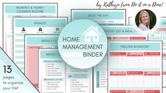 Say yes to simple! My home binder bundle contains over 13 pages to organize your home from cleaning routines, meal prep, to-do lists, guides to caring for your home, to school/family resources and…