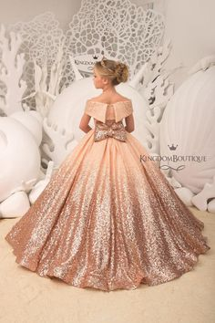 Blush Flower Girl Dress with Sparkling Sequins – Birthday Wedding Party Holiday Bridesmaid Flower Girl Blush Dress – Ideas Flowers Blush Flower Girl Dresses, Blush Dresses, Wedding Dresses, Lace Flower Girls, Bridesmaid Dresses, Prom Dresses, Modest Wedding, Boho Wedding, Gowns For Girls