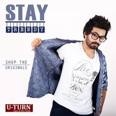 Make you look #stylish and #modish with the #trendy outfit!  Shop the originals from your nearest U TURN store.