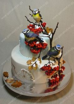 торти від пані Галини - Ювілейні торти Winter Torte, Gifts For Golfers, Fall Cakes, Food Tasting, Little Cakes, Unique Cakes, Autumn Wedding, Beautiful Cakes, Delicious Desserts