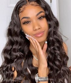 Lace Front Black Wig Lace hair lace front wigs for black women best curling iron for Lace hair wigs - iloverbeauty - Hair Styles Curly Hair Styles, Natural Hair Styles, Natural Beauty, Human Wigs, Baddie Hairstyles, Cute Weave Hairstyles, Frontal Hairstyles, Brazilian Weave Hairstyles, Brazilian Hair