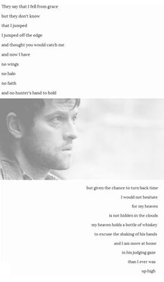 Gorgeous Destiel poem