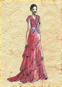 Elisenda Rico fashion illustration - GUCCI