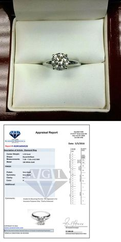 Diamond 67726: 1.55 Ct Round Cut Enhanced Real Diamond Solitaire Engagement Ring 14K White Gold -> BUY IT NOW ONLY: $1799 on eBay!