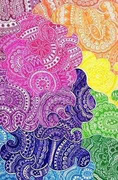 make me fly ~ artist ~saveourtrees on deviantART #doodle #colorful #mytumblr
