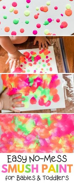 No Mess Smush Painting for Toddlers | Happy Toddler Club