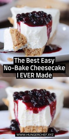 The Best Easy No-Bake Cheesecake I EVER Made! The post The Best Easy No-Bake Cheesecake I EVER Made! appeared first on Dessert Factory. Cheesecake Facil, No Bake Vanilla Cheesecake, Best Cheesecake, Cheesecake Recipes, Cheesecake Brownies, Raspberry Cheesecake, No Bake Cheescake, No Bake Cheesecake Filling, Frozen Cheesecake