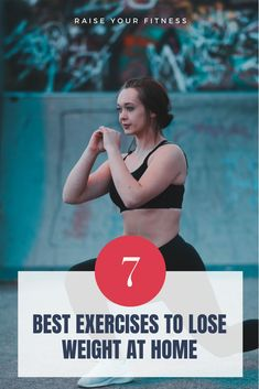 The Best Exercises To Lose Weight At Home Quickly - Check out these 7 best simple exercises that boosts your metabolism and helps you in shedding fat and weight at home. Lose up to 10 lbs in a month with these exercises! #weightloss #fatloss #weightlossexercise #workout Losing 10 Pounds, Losing Me, Lose Weight At Home, Boost Your Metabolism, You Fitness, Easy Workouts, Exercises, Fat, Weight Loss
