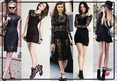 Cuando el clásico 'little black dress' y el encaje se encuentran, el resultado es ¡súper sexy y elegante! #TattooTrends
