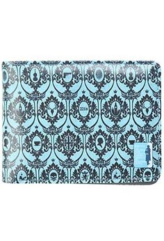 """It won't take a mastermind sleuth to realize why you'll want our new bi-fold Sherlock wallet. This 4 1/2"""" x 3 1/4"""" wallet is chic, patterned with Sherlock's detailed wallpaper, and practical, with eight slots to hold coins, credit cards, or clues you've picked up from the latest crime scene. The only mystery will be whether to choose lovely teal or an all-purpose grey."""