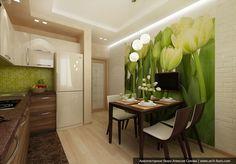 кухня-гостиная 13 метров