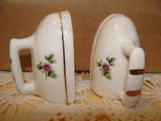 Vintage Salt and Pepper Shakers set Bone China by TheClassyLady, $10.00