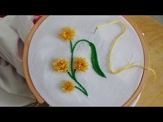 Hand Embroidery: Pom Pom Stitch - YouTube