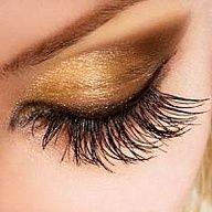 Perfect smoky eye makeup in desert gold