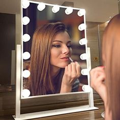 Today offers some of the best makeup mirrors with LED lights which can be a stylish collection & they are designed for ease of travel and giving a touch whenever required. Mirror With Led Lights, Led Mirror, Mirrors, Best Professional Makeup Brushes, Hollywood Makeup Mirror, Cool Things To Make, Make Up, Makeup Set, Perfect Makeup