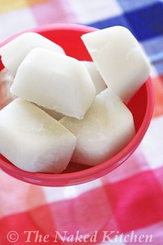 Freeze coconut milk into ice cubes to make smoothies