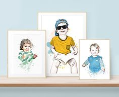 You and Me Prints transforms everyday candid photos into bespoke works of art with a focus on our littlest family members - Order your own custom portrait now!