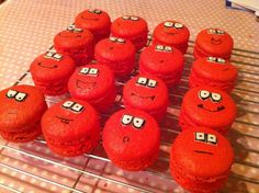 Red Nose Day macaroons!